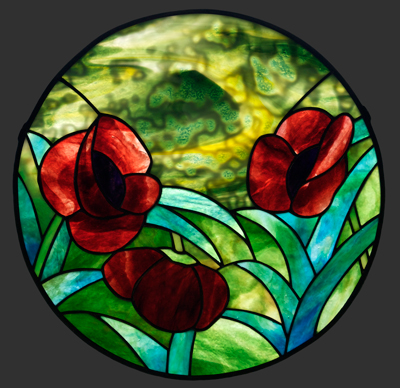 Poppy Stained Glass Pendant