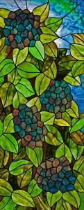 Blue Hydrangea stained glass pattern