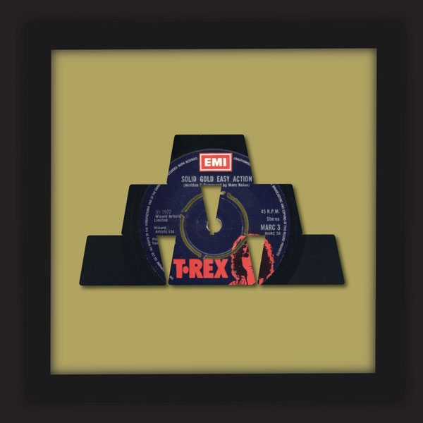 Solid Gold Easy Action - T Rex [Marc Bolan] (1972) - Kenny Deane limited  edition vinyl art