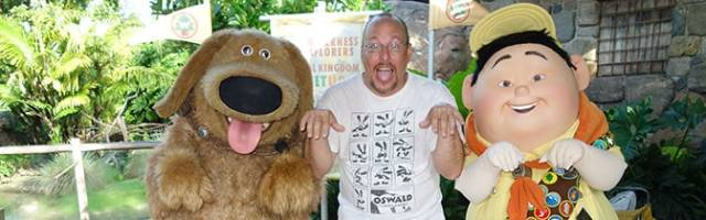 Dug and Russell meet and greet at Animal Kingdom in Walt Disney World