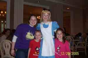 Alice in Wonderland at 1900 Park Fare in the Grand Floridian 2005
