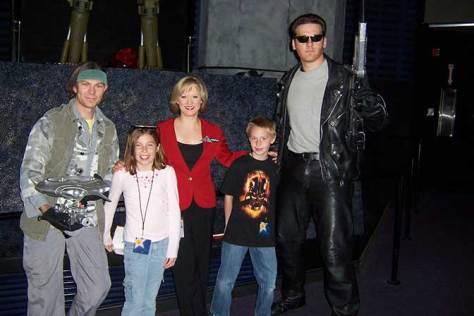 John Conner Skynet Lady and Terminator Universal Studios Hollywood 2007