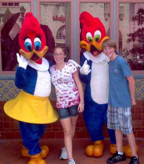 Winnie and Woody Woodpecker Universal Islands of Adventure 2011