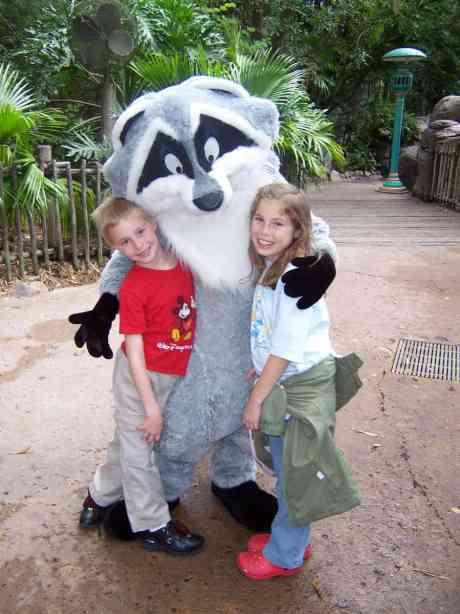 Meeko in Animal Kingdom 2006