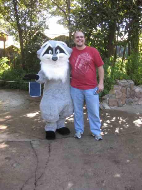 Meeko in Animal Kingdom 2010
