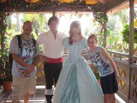 Eric with Ariel in Magic Kingdom 2011