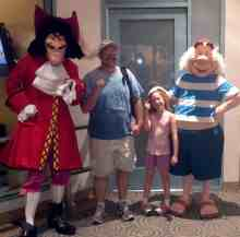 Capt Hook and Mr. Smee at Character Palooza in 2012