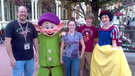 Dopey with Snow White at the Magic Kingdom 2012