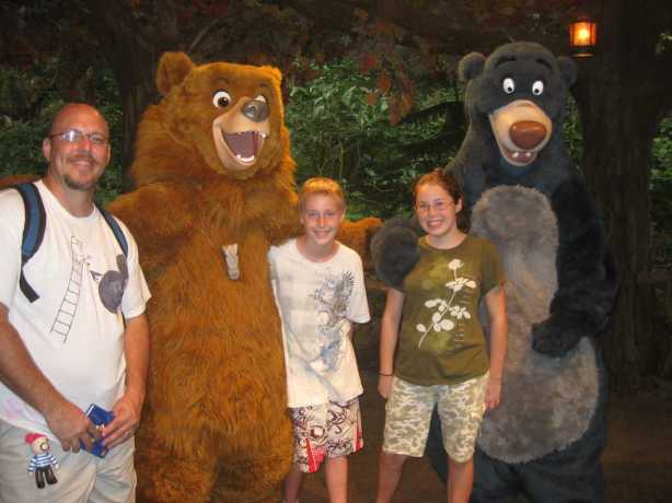 Kenai and Baloo Camp Minnie Mickey 2010