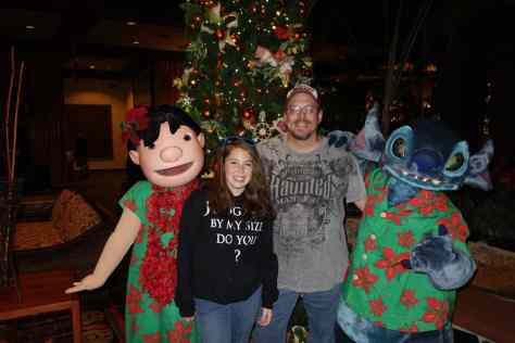 Lilo and Stitch at Polynesian for Christmas 2012
