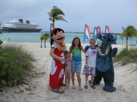 Lilo and Stitch at Castaway Cay 2009