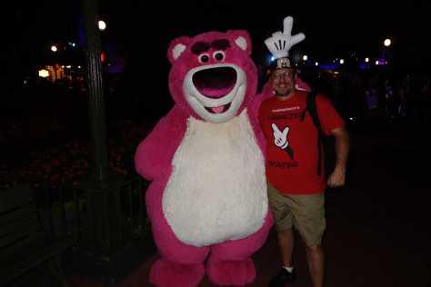 Lotso at Mickey's Not So Scary Halloween Party 2012