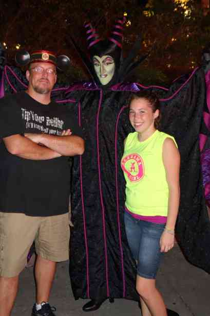 Maleficent at the Villains Bash 2012