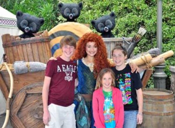 Merida at Disneyland 2012
