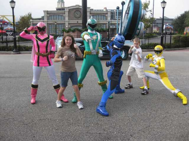 The Power Rangers were my older two children's favorite meet in WDW.  They loved doing the karate style posing with the Rangers before they were retired.  This photo was taken in 2009.