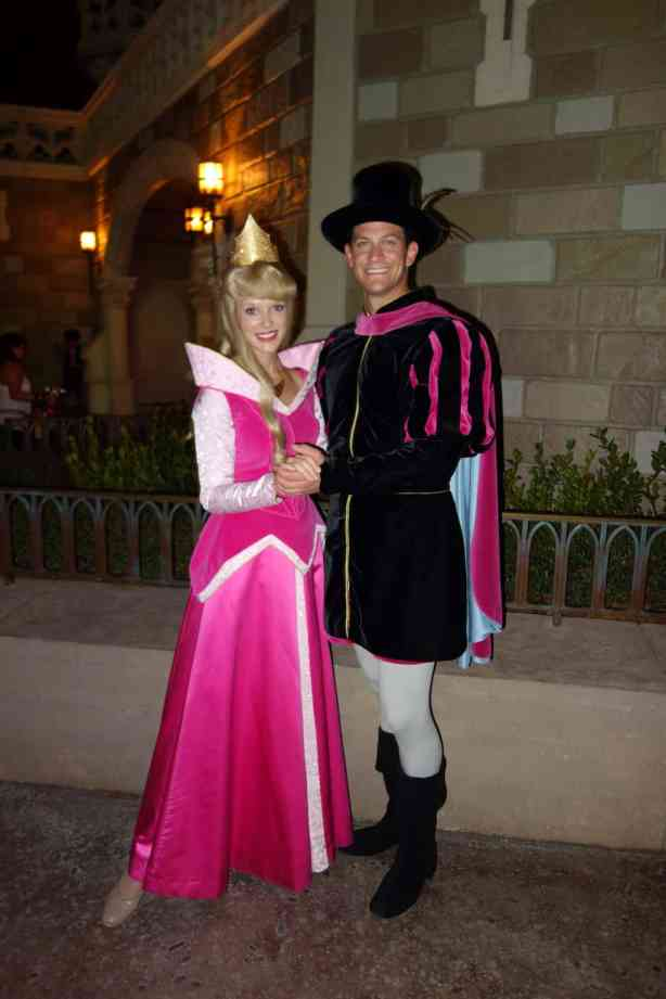 Aurora (Sleeping Beauty) and Prince Phillip at Mickey's Very Merry Christmas Party 2012