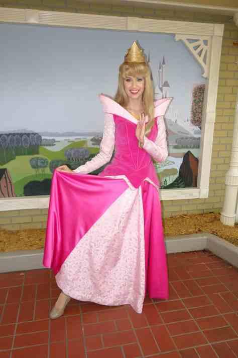 Aurora (Sleeping Beauty)  at City Hall in Magic Kingdom 2012