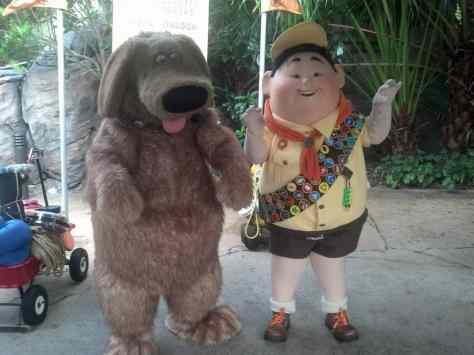 Dug and Russell at Animal Kingdom 2012
