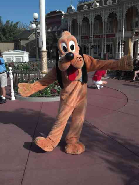 Pluto at Magic Kingdom 2012