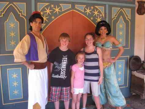 Aladdin and Jasmine - Magic Kingdom 2011