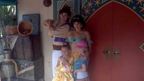 Aladdin and Jasmine - Magic Kingdom 2011