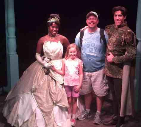 Tiana  with Naveen - Magic Kingdom 2012