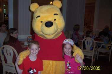 Winnie the Pooh at 1900 Park Fare in the Grand Floridian 2005
