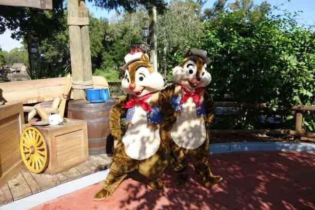 Chip n Dale Magic Kingdom October 2012