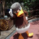 Donald Duck as Davy Crockett in Magic Kingdom in 2012
