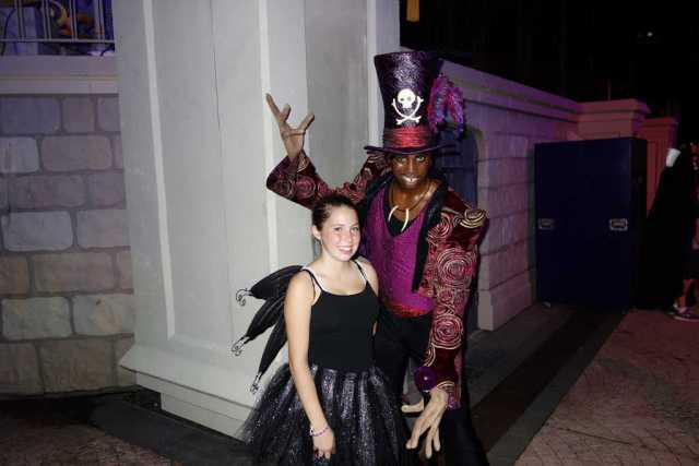 Dr Facillier aka Shadowman at Mickey's Not So Scary Halloween Party 2012