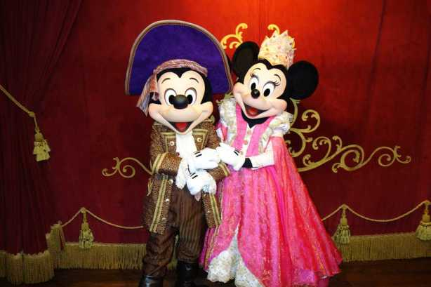 Mickey as Pirate and Minnie as Princess at Mickey's Not So Scary Halloween Party - September 2012