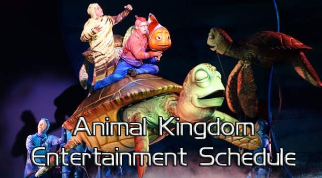Animal Kingdom Entertainment Schedule, Animal Kingdom Times Guide KennythePirate