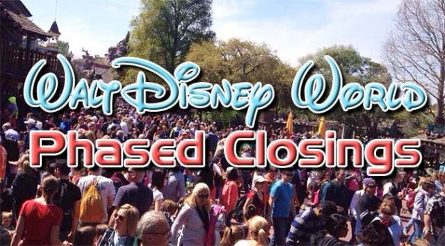 Disney World Phased Closing