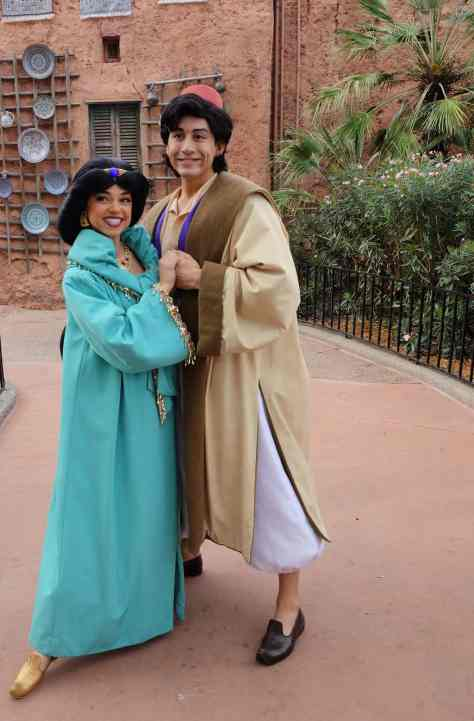Aladdin and Jasmine at Morocco in EPCOT 2013