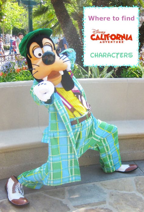 Disney California Adventure Character Schedule