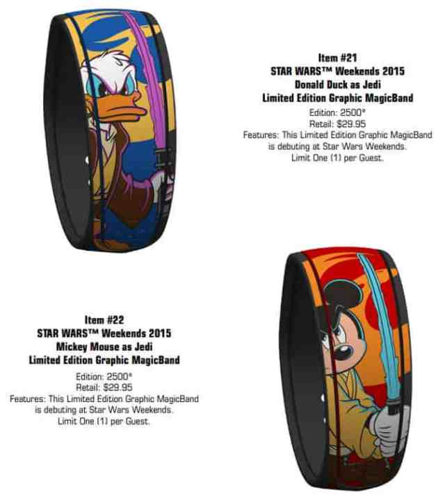 Star Wars Weekends MagicBands Donald Duck Mickey Mouse l kennythepirate.com