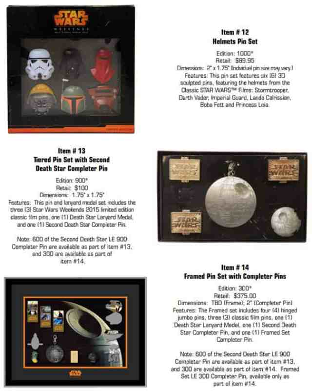Star Wars Weekends Pin Sets l kennythepirate.com
