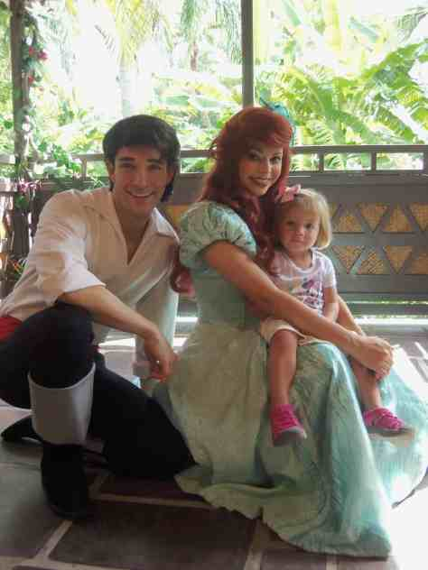Ariel and Eric when they used to meet at the Adventureland Verandah.