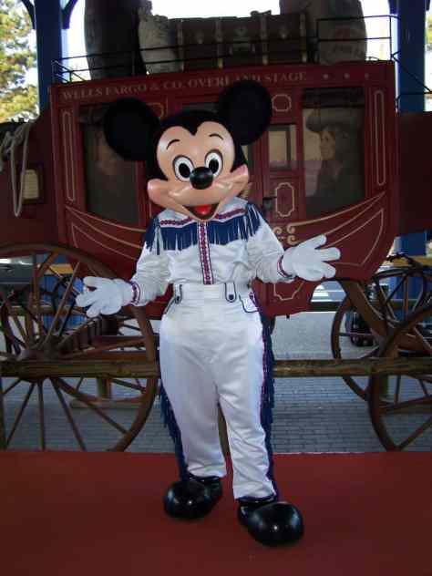 Mickey Mouse as Cowboy at Disneyland Paris Hotel Cheyenne