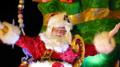 Santa in Mickey's Once Upon a Christmastime Parade