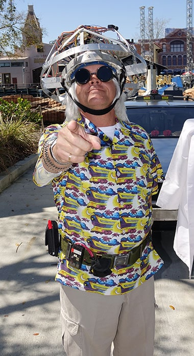 Doc Brown meet and greet at Universal Studios Orlando