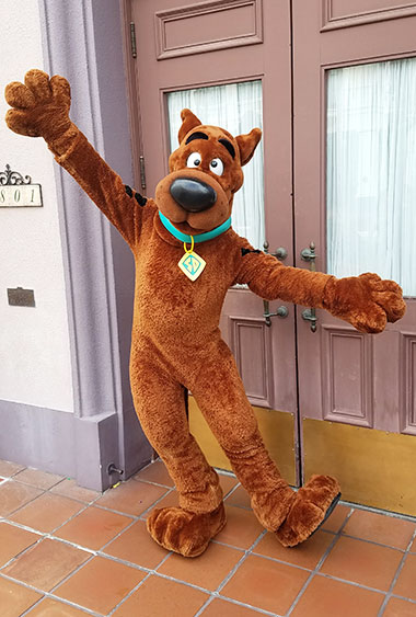 Scooby Doo Universal Orlando character meet and greet