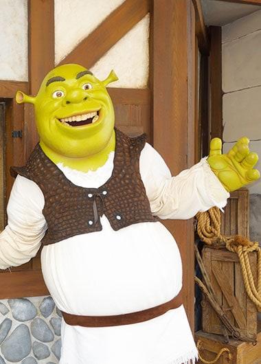 Shrek character meet and greet at Universal Studios Florida