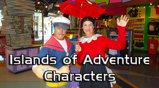 Universal Orlando Islands of Adventure Character Meets
