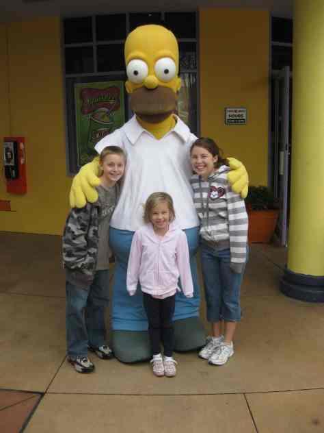 Homer Simpson Universal Studios Orlando 2009