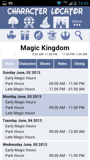 Full four park hours including extra magic hours.
