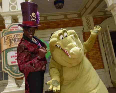 Dr. Facilier and Louis the Alligator Long-lost Friends Magic Kingdom Disney World