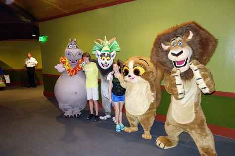Busch Gardens Tampa Madagascar characters Gloria King Julian Mort Alex