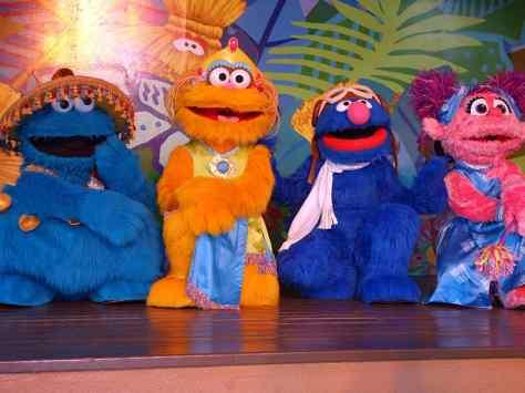 Busch Gardens Tampa Sesame Street Characters  Cookie Monster Zoe Grover Abby Cadabby (1)