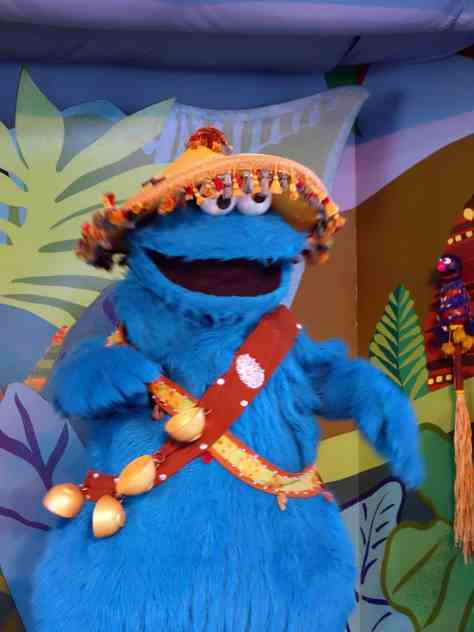 Busch Gardens Tampa Sesame Street Characters Cookie Monster